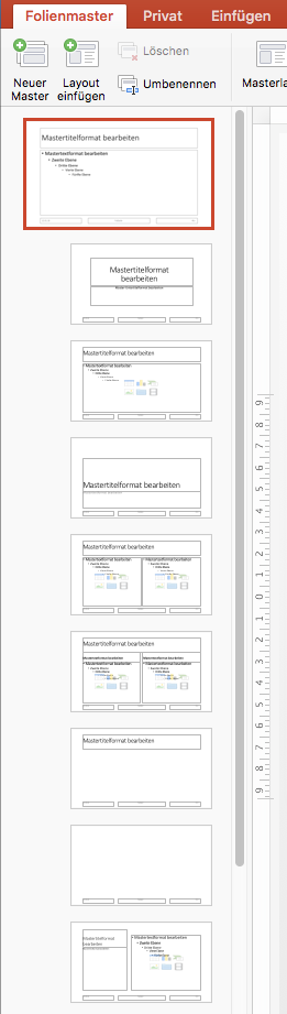 PowerPoint Slidemaster - Layouts